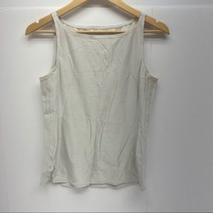 White lululemon Work Out Scoop Neck Tank Sz 10